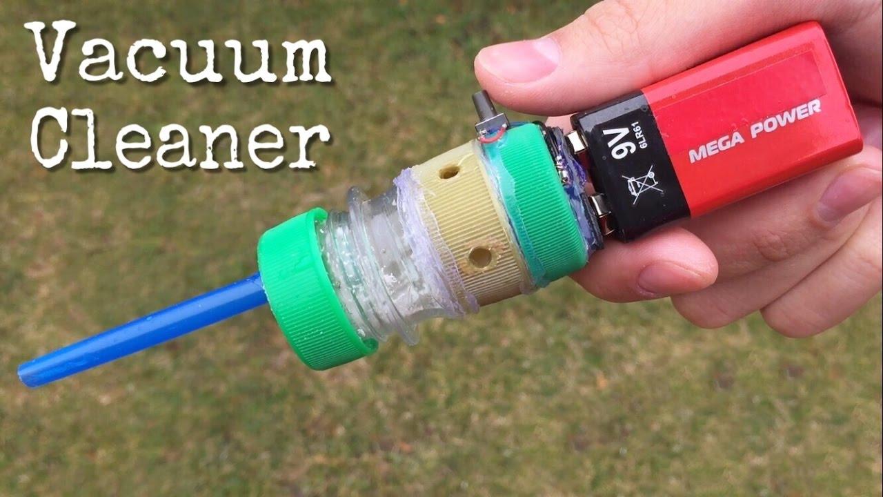 Amazing idea - How to Make a Mini Vacuum Cleaner Using Plastic Bottle Caps  and DC Motor
