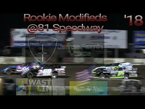 Rookie Modifieds #56, B Main, Feature, & Race of Champions, 81 Speedway, 09/29/18