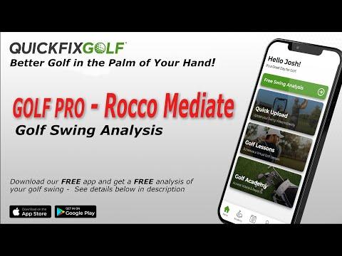 Rocco Mediate Golf Swing Analysis