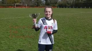 Amazing awareness and passing for a 12 year old girls football soccer player. Spurs Ladies