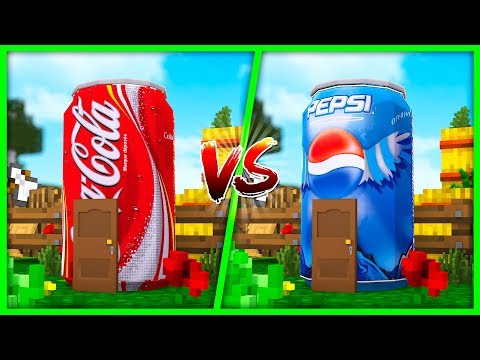 Minecraft - Coca Cola House vs Pepsi House