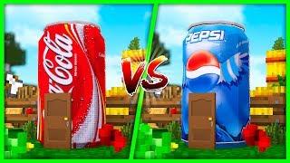 Minecraft - Coca Cola House vs Pepsi House