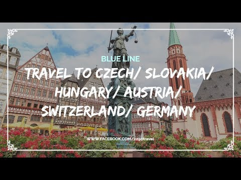 Travel To Czech, Slovakia, Hungary, Austria, Switzerland, Germany - Blue Line 2290 Travel