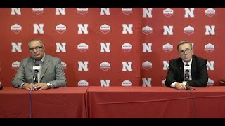 Nebraska Press Conference with Ronnie Green and Bill Moos
