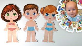 """""""Одевашки"""". Замечательные магнитные куклы для девочек. Аналог  бумажных кукол для малышей"""