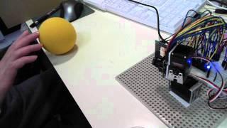 mbed + トラ技カメラB + サーボモータでボール追跡の実験。 thumbnail