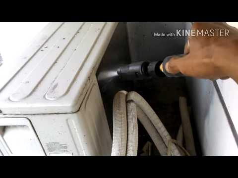 Cleaning washing outdoor midea air conditioner