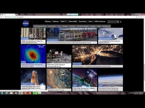 NASA - National Aeronautics and Space Administration - Home WEbsite.