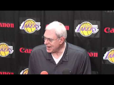 Lakers Coach Phil Jackson on Derek Fisher defending screen and rolls