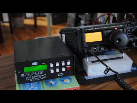 FT-897D and MFJ-929 tuner 1st QSO on radio