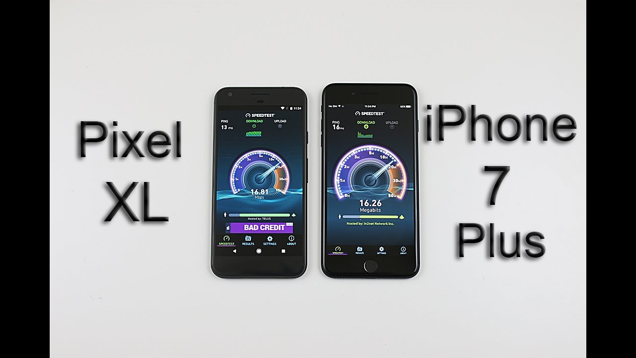 google pixel vs iphone 7 benchmark