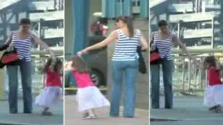 suri cruise dances and twirl on set with tom cruise and katie holmes