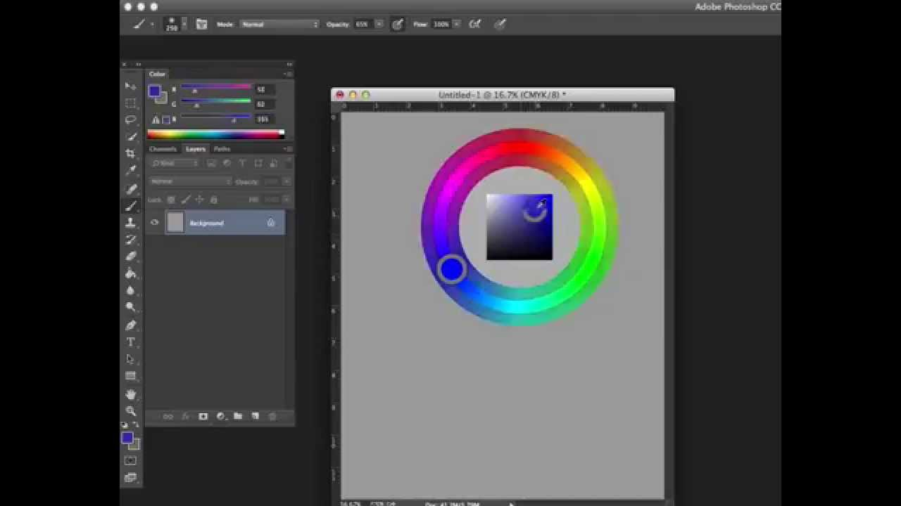 A Color Wheel For Photoshop Cs6 The Hud Color Picker Youtube