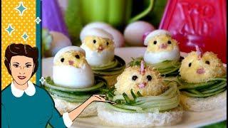 """Фаршированные яйца """"Пасхальные цыплята""""! Вкуснее не бывает!"""