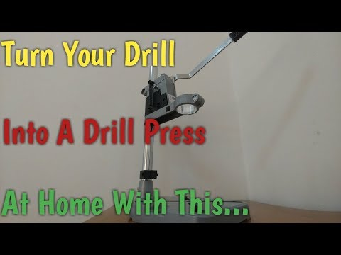 Turn Your Hand Drill Into A Drill Press in Less Than 5 Minutes (Easy to Assemble Drill Stand)