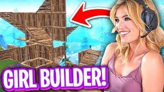 THIS GIRL BUILDS FASTER THAN ME ON FORTNITE! (FASTEST GIRL BUILDER?)