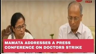 Mamata Banerjee addresses a Press Conference on Doctors strike