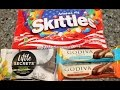 Skittles America Mix, Little Secrets & Godiva: Chocolate & Crème Bar & Double Chocolate Bar Review