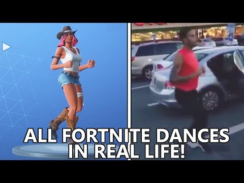 ALL *NEW* FORTNITE DANCES IN REAL LIFE Running Man Flamenco & More