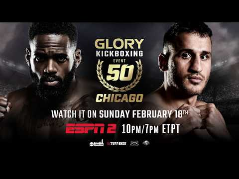 Don't Miss the GLORY 50 Chicago ESPN2 Replay on Sunday, February 18th!