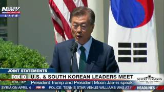 FULL: President Trump & South Korean President Moon Jae-in Deliver Joint Statements at White House