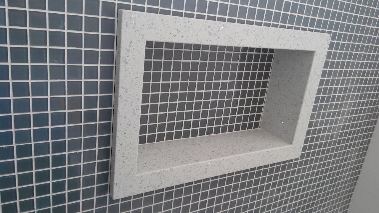 nichos banheiros  YouTube -> Armario De Banheiro Amadeirado