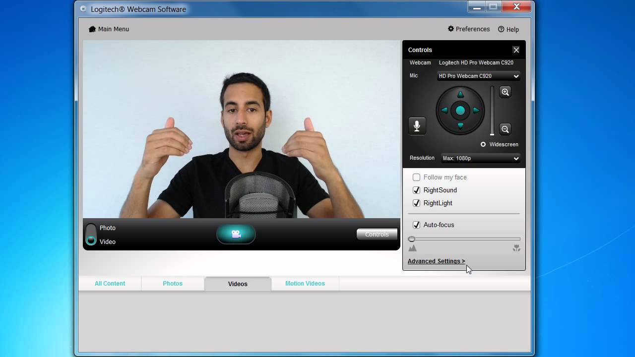 Logitech C910 C920 Settings Adjustments For Better Video Youtube