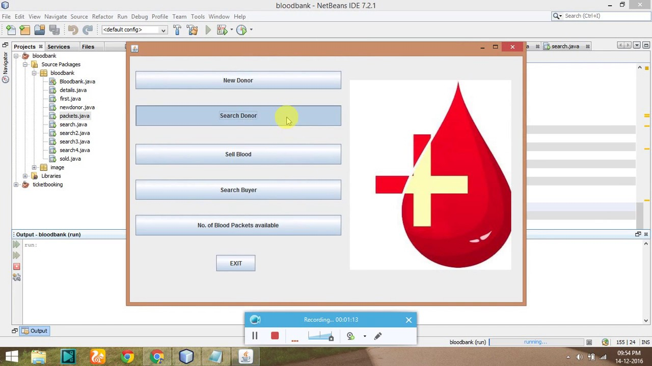 Blood Bank Management System Project in Java with Code