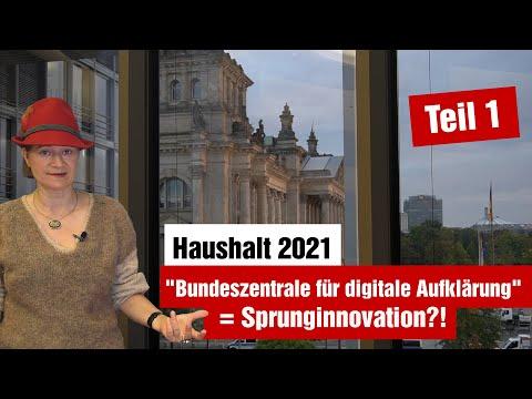 Haushaltsplanung 2021 - Teil 1: Kanzleramt in Sachen Digitalpolitik und BfDI (07.10.2020