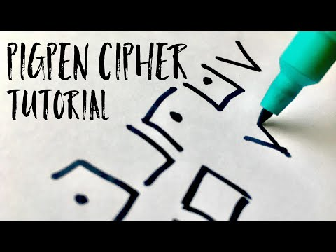 How To Write In Pigpen Cipher 2 Minute Tutorial Youtube