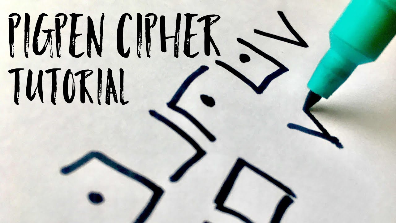 How To Write In Pigpen Cipher 2 Minute Tutorial