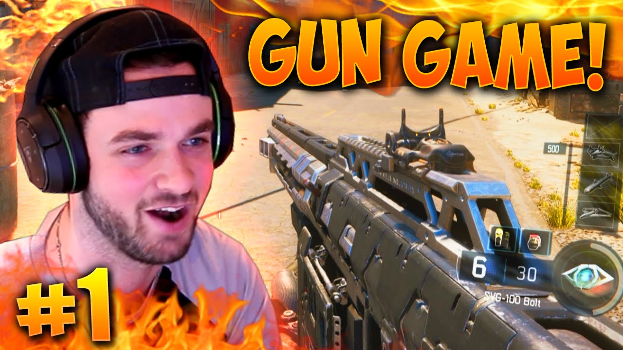 epic comeback black ops 3 gun game 1 live w ali a youtube