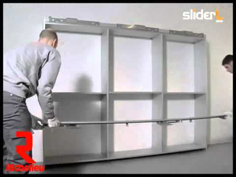 Richelieu Hardware - Coplanar Sliding Door Set For Wardrobe Assembly - YouTube & Richelieu Hardware - Coplanar Sliding Door Set For Wardrobe ...