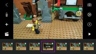 как снимать Лего мультики . Бег , шаг , бросок