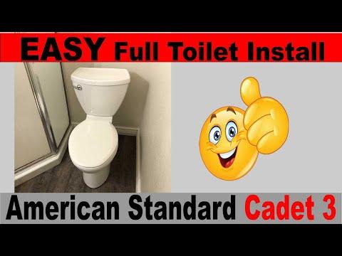 Easy Toilet Install American Standard Cadet 3 Tall Height Elongated DIY