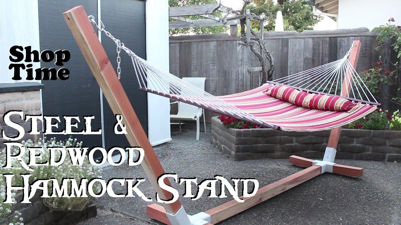 Steel & Redwood Hammock Stand
