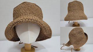 코바늘 여름 보닛 모자