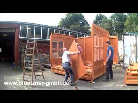 verkaufsstand klapph tte weihnachtsmarkt pf tzner gmbh youtube. Black Bedroom Furniture Sets. Home Design Ideas