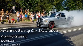 American Beauty Car Show 2018 paraad/cruising