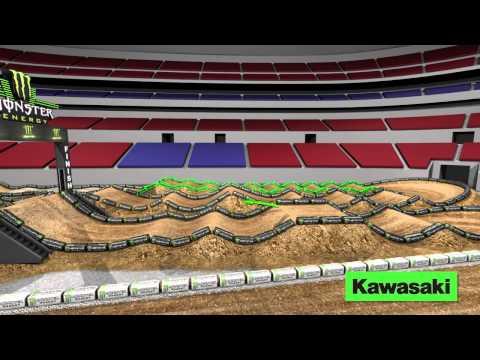 Supercross LIVE 2014 – St Louis 32914 – Monster Energy Supercross Animated Track Map