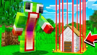ESCAPING THE SAFEST SMALLEST MINECRAFT HOUSE!