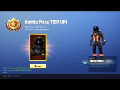 Finally unlocked dark voyager battle pass challenges youtube - Fortnite dark voyager account ...