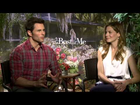 """The Best of Me"" junket interview with Michelle Monaghan and James Marsden"