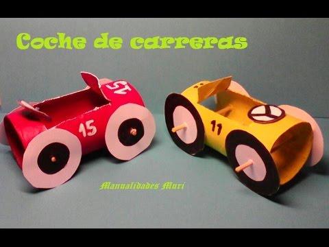Manualidades coche de carreras con papel higi nico youtube - Manualidades rollos de papel higienico ...