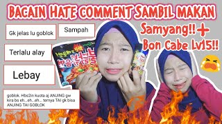 Download lagu BACAIN HATE COMMENT SAMBIL MAKAN SAMYANG + BON CABE LV 15!! *DOUBLE EXTRA HOT!!    Riri Fajrh