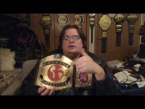 my first homemade wwe championship with metal plates