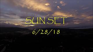 Sunset 6/28/18, Pictures, Time lapse and Video