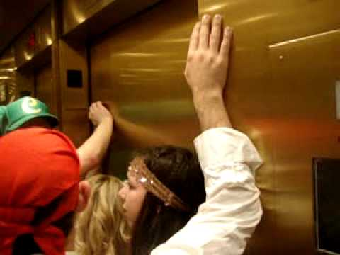 people stuck in elevator. the gang gets stuck in an elevator people