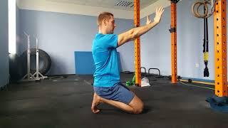 Serratus anterior muscle activation - right press pattern