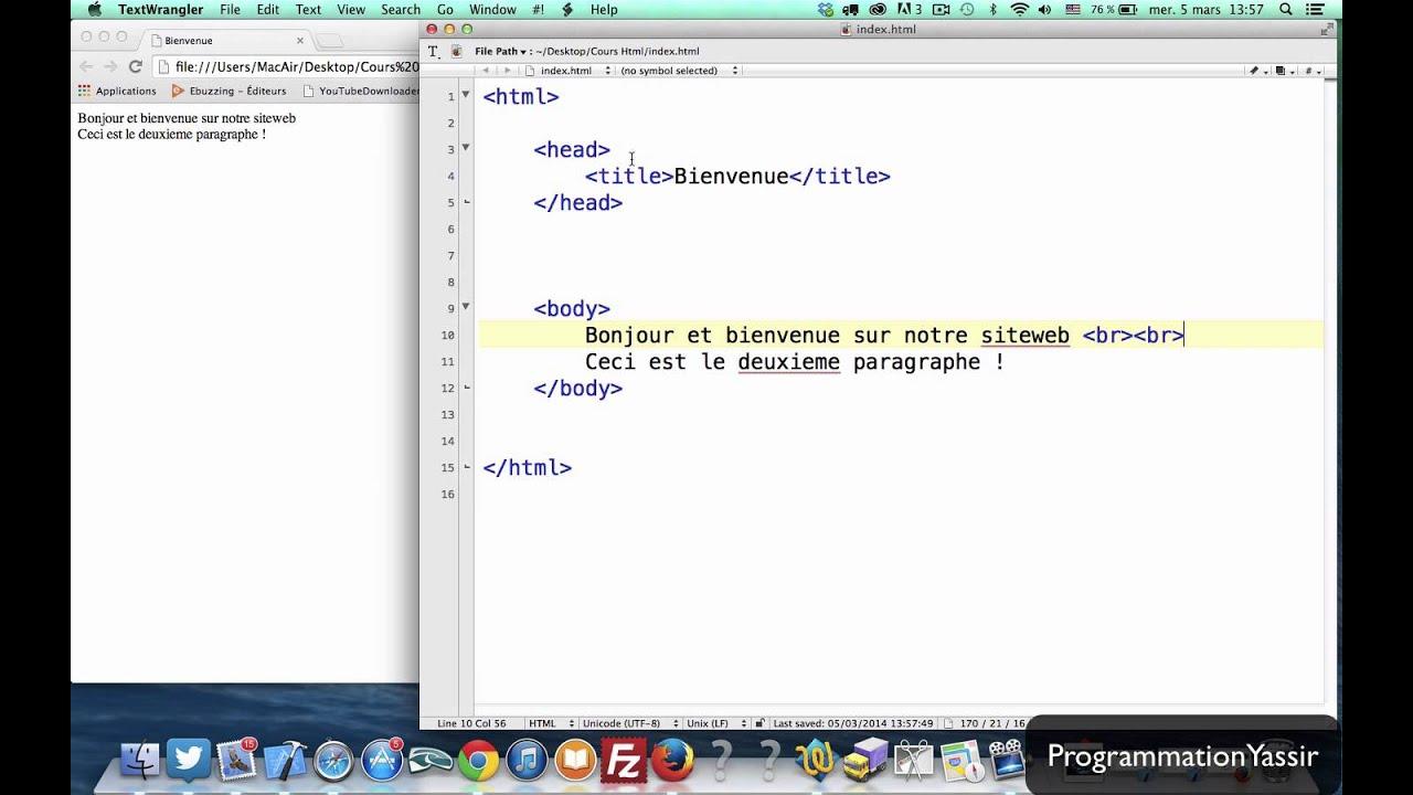 سلسلة تعليم Html انجاز موقعك الخاص الدارجة المغربية Serie Cours Html Creation De Site Darija 1 Youtube